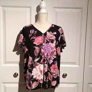 Liz Claiborne semi sheer top, new with tags.